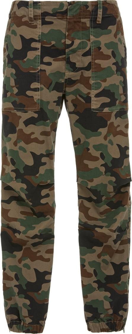 Nili Lotan East Hampton Cropped Camouflage Cotton-Blend Pants