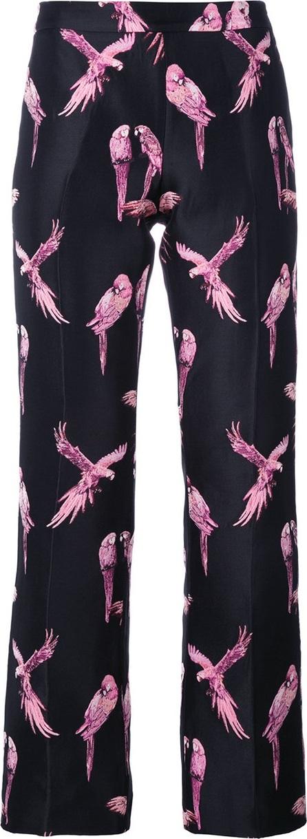 GIAMBA macaw print trousers