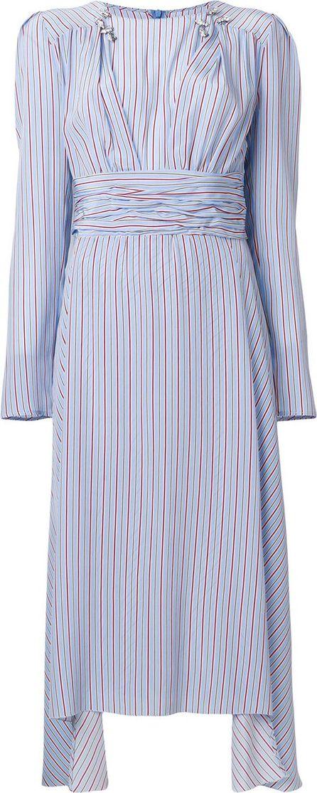 Ermanno Scervino Striped folded dress