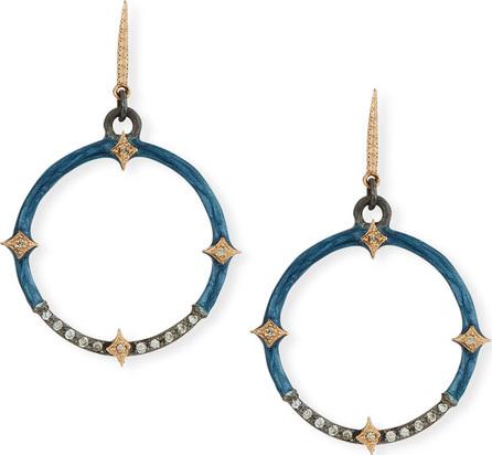 Armenta New World Diamond Crivelli & Enamel Circle Drop Earrings