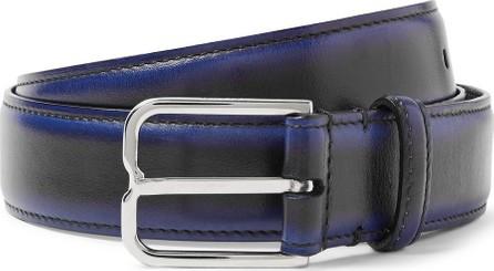 Berluti 3cm Blue Leather Belt