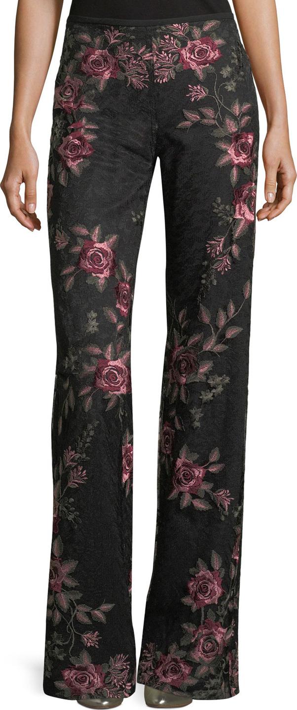 Nanette Lepore - Bachata Wide-Leg Back-Zip Pants
