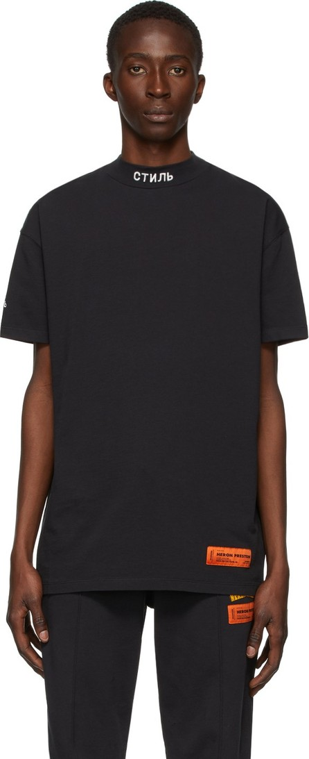 Heron Preston Black 'Style' Mock Neck T-Shirt