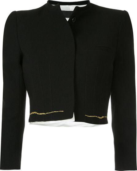 Haider Ackermann stitch detail cropped jacket