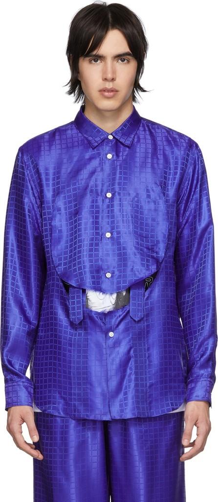 Comme Des Garçons Homme Plus Blue C Pattern Shirt