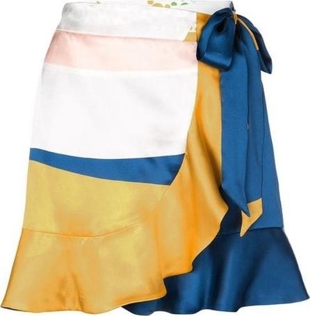 Beau Souci Matera Tropical Silk Wrap Skirt