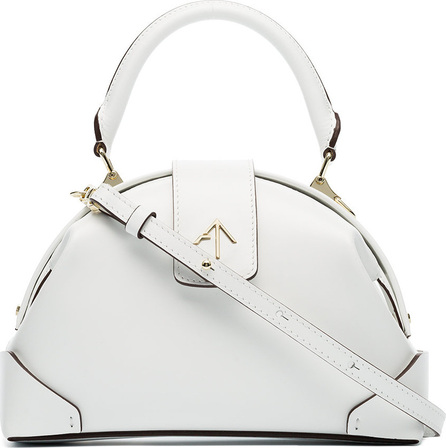 Manu Atelier White Demi leather cross body bag