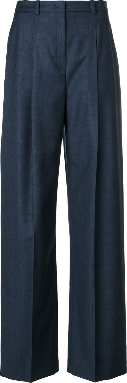 Jil Sander Navy high waist single pleat trousers