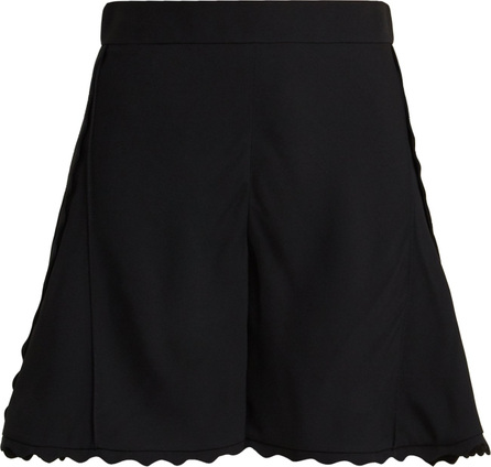 Chloe Scallop-edge cady shorts