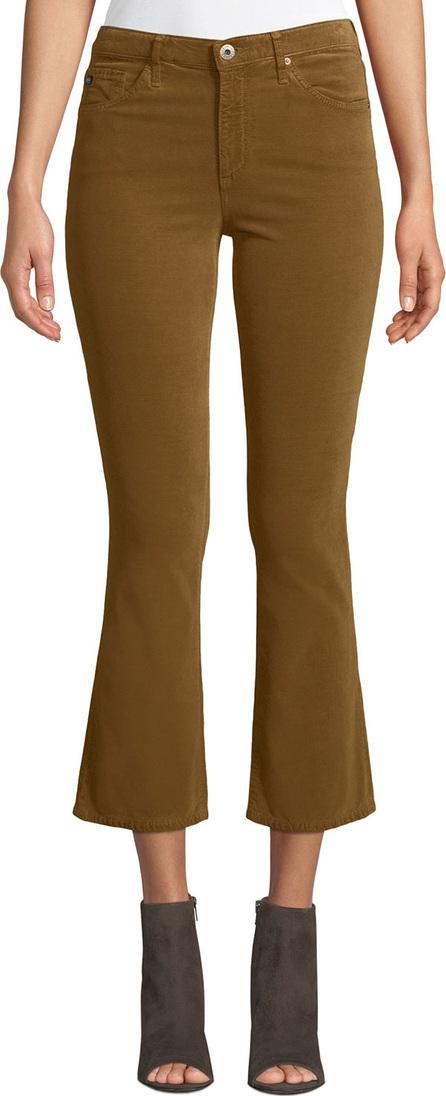AG Jeans Jodi Velvet Cropped High-Rise Flare Jeans
