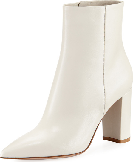 Gianvito Rossi 85mm Point-Toe Leather Bootie
