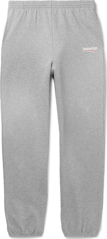 Balenciaga Logo-Print Mélange Loopback Cotton-Jersey Sweatpants