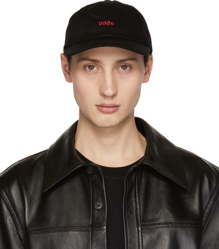032c Black Embroidered Classic Cap