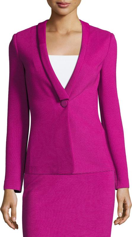 Armani Collezioni Ottoman Jersey One-Button Blazer