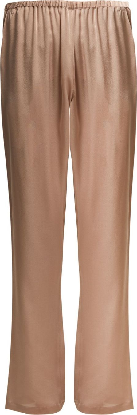 CARINE GILSON Lace-trimmed silk-satin pyjama trousers