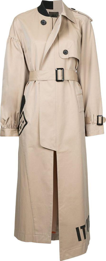Aula shuffle asymmetric trench coat