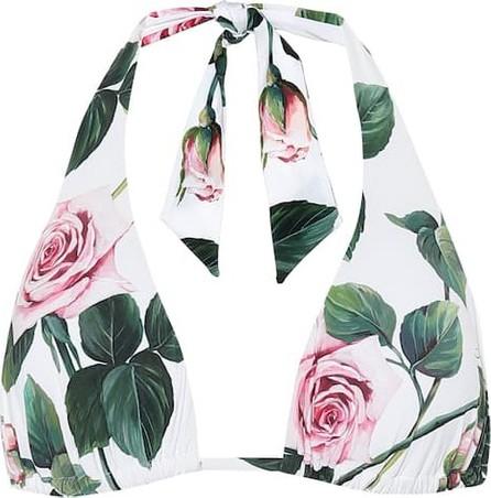 Dolce & Gabbana Floral halter bikini top
