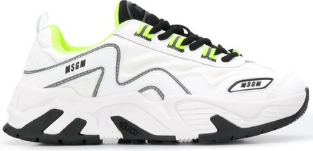 MSGM Attack panelled chunky sneakers