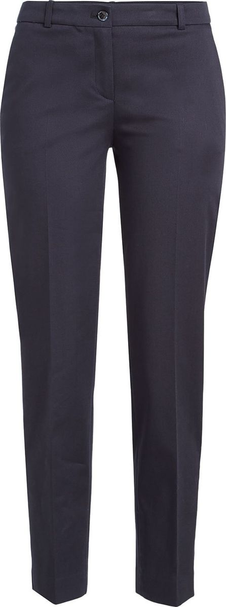 Jil Sander Navy Cropped Cotton Pants