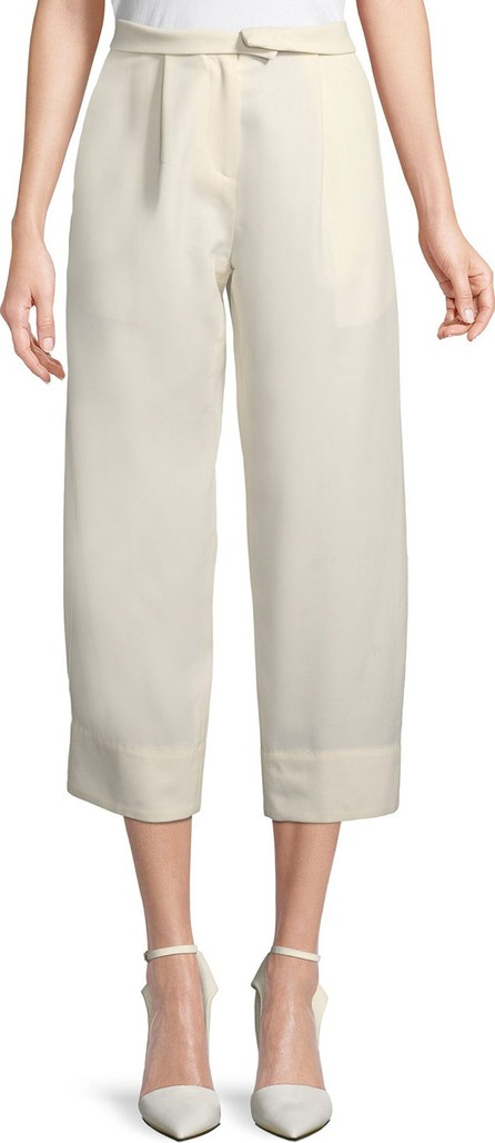 Carven High-Waist Wide-Leg Ankle Wool Trousers