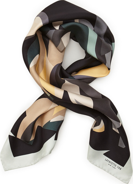 Lafayette 148 New York Bauhaus Veritas Silk Twill Scarf