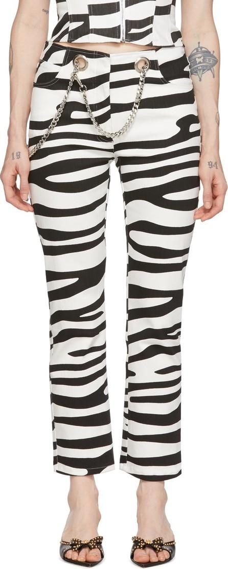 Miaou Black & White Tomma Zebra Jeans