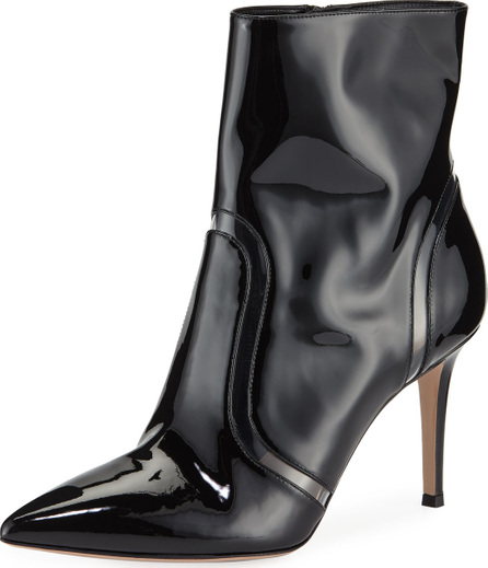 Gianvito Rossi Shiny Leather & Vinyl Booties