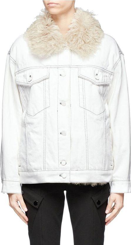 Alexander Wang Lambskin shearling lined denim jacket