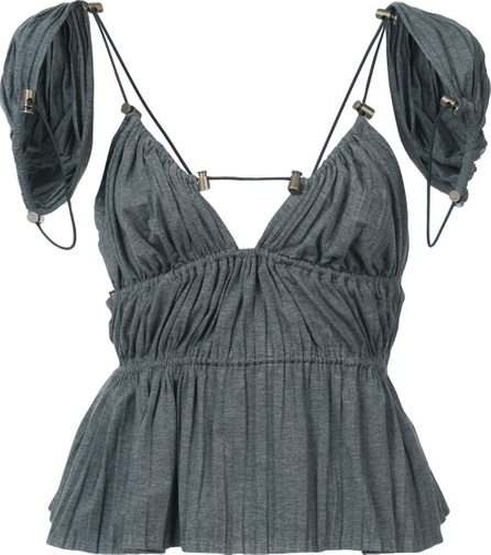 Y / Project Open back blouse