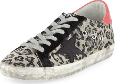 Golden Goose Deluxe Brand Superstar Metallic Leopard Low-Top Sneakers