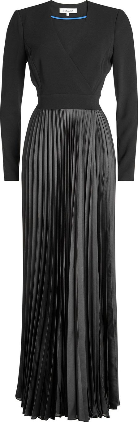 DIANE von FURSTENBERG Dress with Pleated Satin Skirt