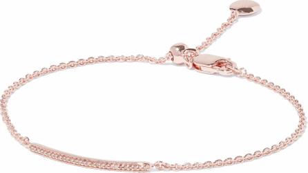 Monica Vinader 18-karat rose gold-plated sterling silver diamond bracelet