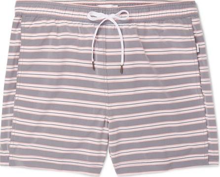 Onia Charles Mid-Length Striped Swim Shorts