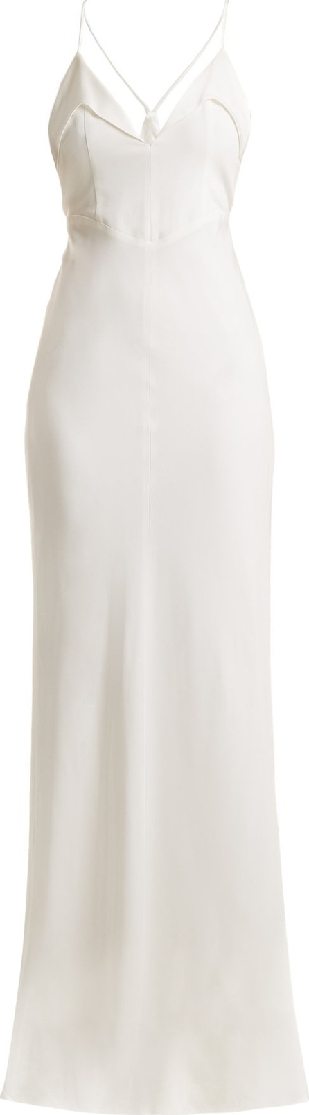 Galvan Punta  V-neck crepe gown