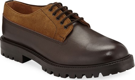 Hender Scheme Percy Leather & Suede Lace-Up Shoes
