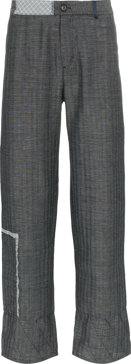 78 Stitches Slouch virgin wool linen-blend tapered trousers