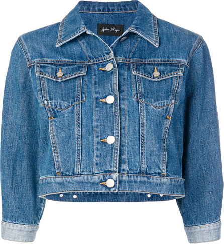 Andrea Ya'aqov Colourblock cropped denim jacket
