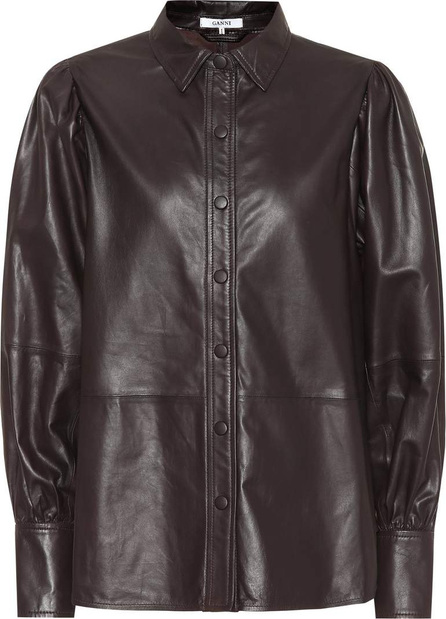 Ganni Rhinehart leather shirt