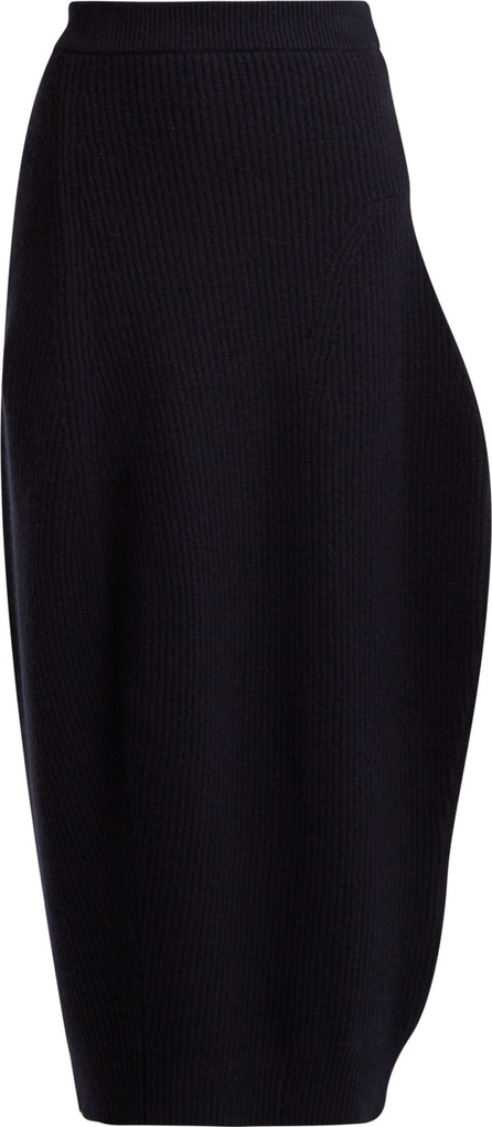 Jil Sander Ribbed wool and cashmere-blend skirt