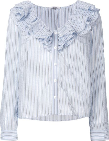 Ganni Ruffled shirt