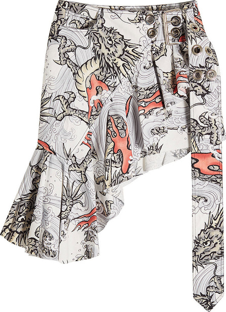 Marques'Almeida Wrap Frill Printed Skirt