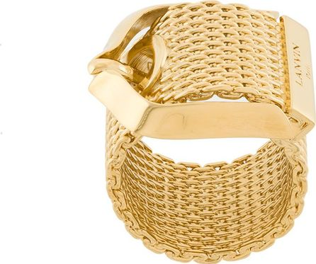 Lanvin buckled chain ring