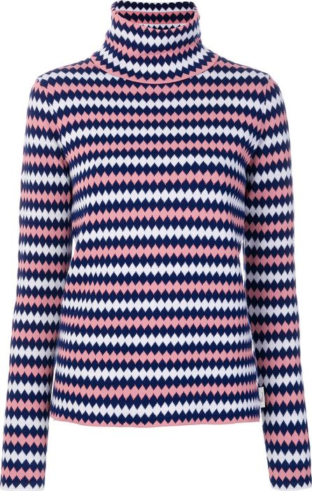 Moncler diamond stripe knitted jumper