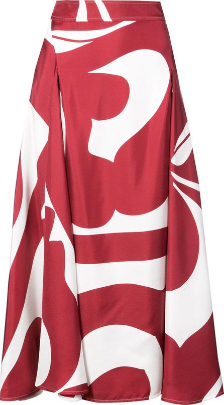 Victoria Beckham Printed full skirt