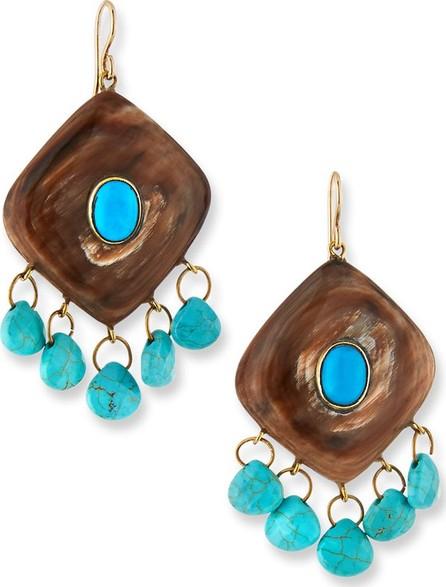 Ashley Pittman Kingo Drop Earrings w/ Turquoise