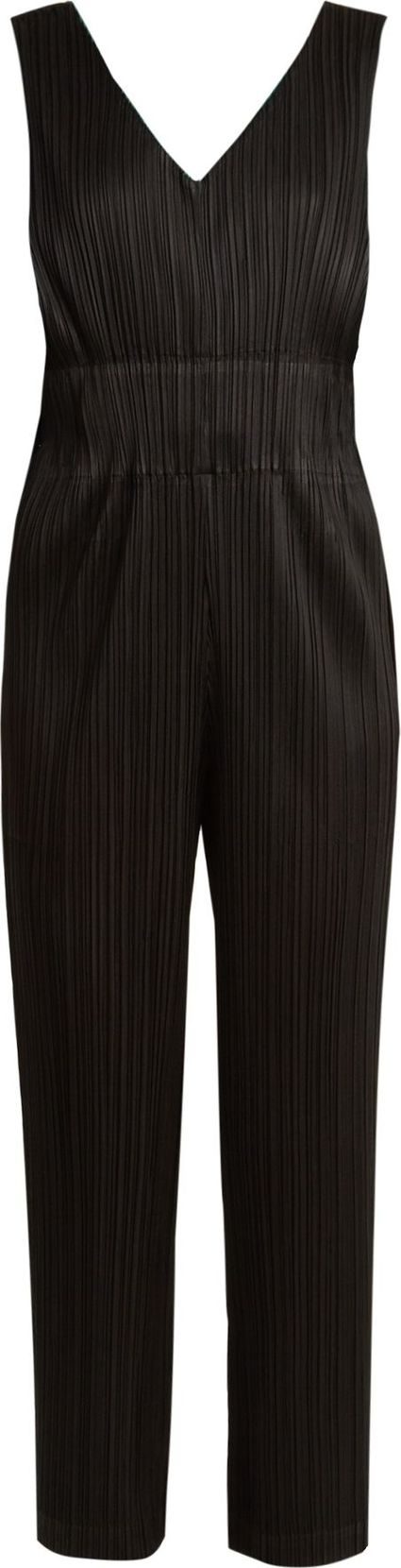 Pleats Please By Issey Miyake V-neck pleated jumpsuit