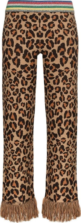 Alanui Alanui animalier jacquard knitted trousers