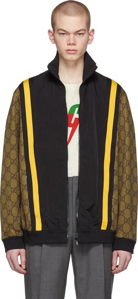 Gucci Brown & Black GG Eagle Track Jacket