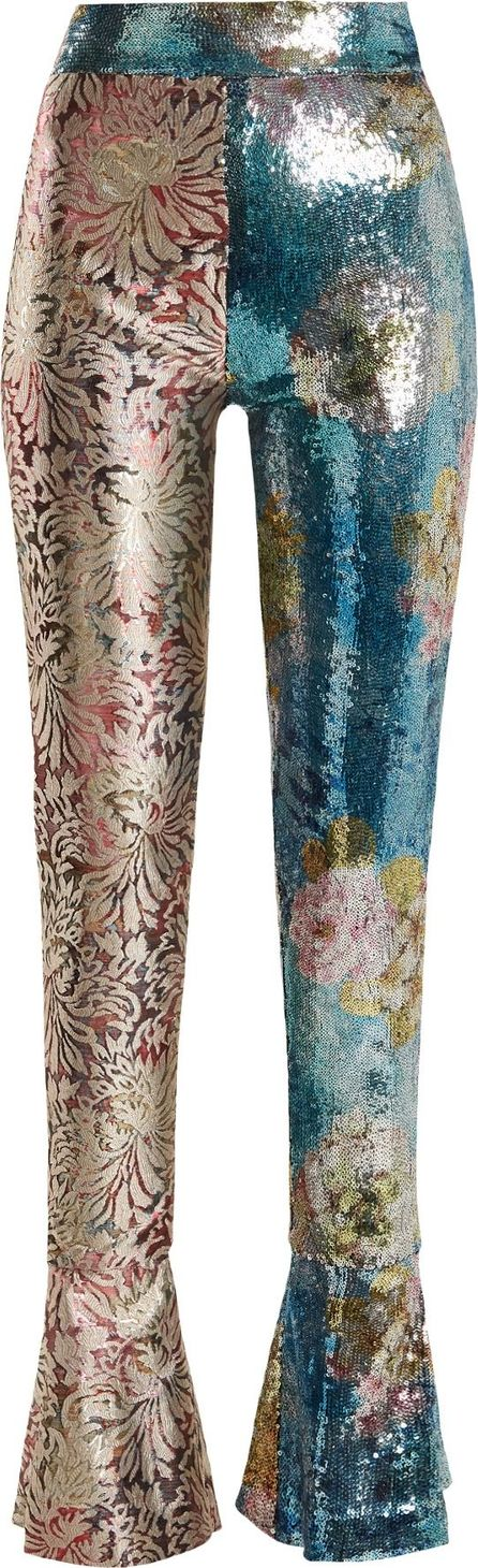Halpern High-rise sequin-embellished skinny trousers