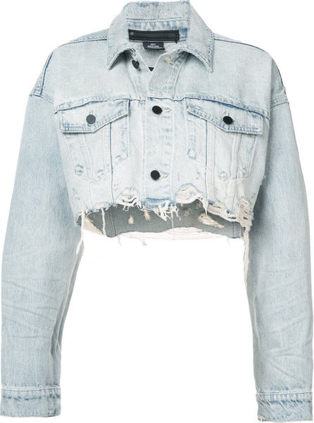 Alexander Wang Cropped loose denim jacket